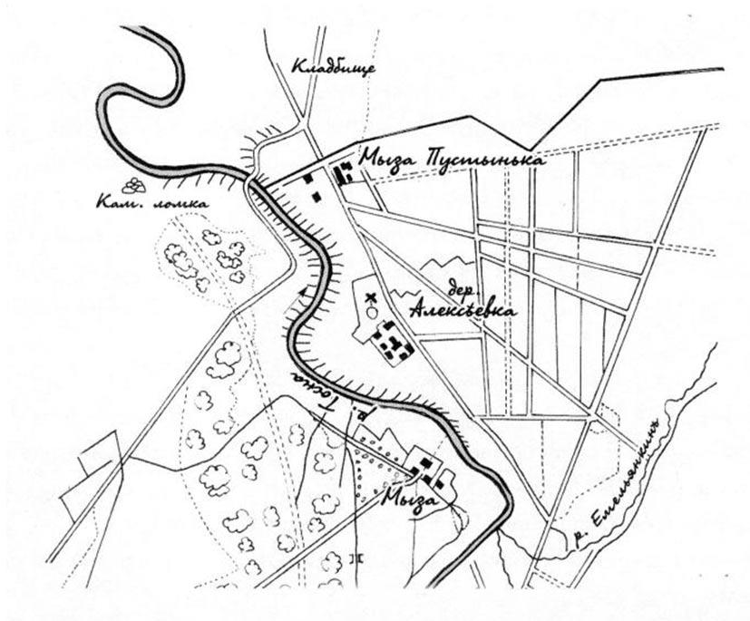 Усадьба Пустынька. План. 1870-е