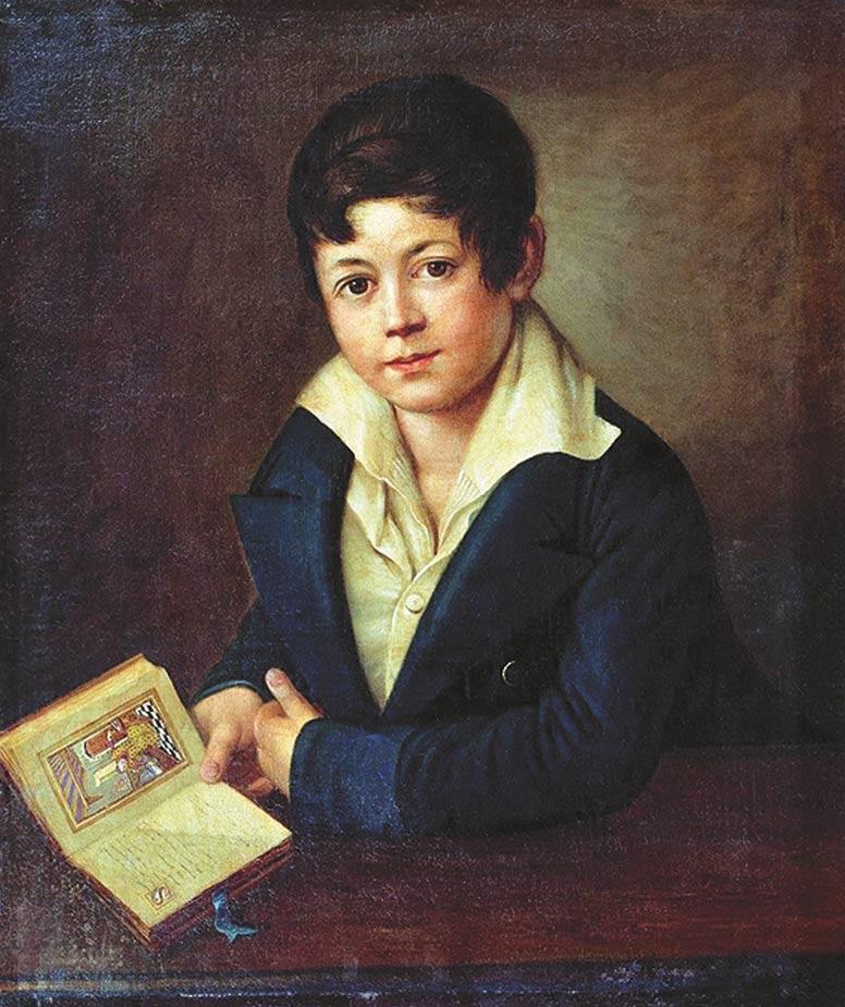 А.Г. Варнек. Портрет поэта графа А.К. Толстого в возрасте 12 лет. 1829 год
