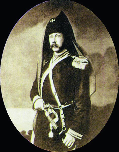 Алексей Константинович Толстой в военной форме. 1856 год